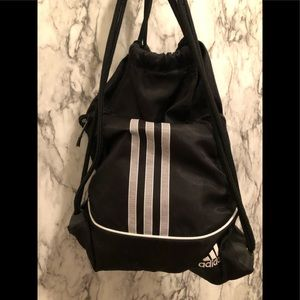 Adidas black drawstring backpack